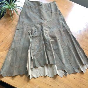 🤎 Vintage Danier suede boho skirt